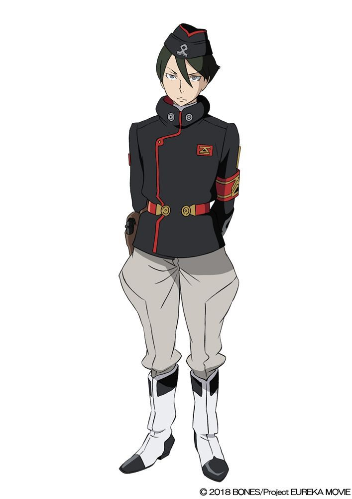Dominic (VA: Shigenori Yamazaki) from anime movie Anemone: Koukyoushihen Eureka Seven (lit. Psalms of Planets Eureka Seven)