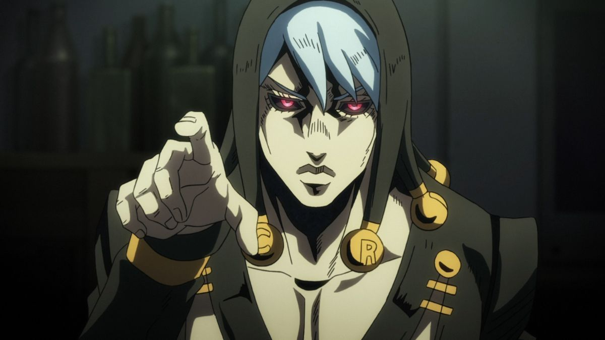 Risotto Nero vom anime JoJo's Bizarre Adventure: Golden Wind