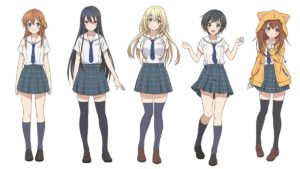 Characters from anime Hachigatsu no Cinderella Nine